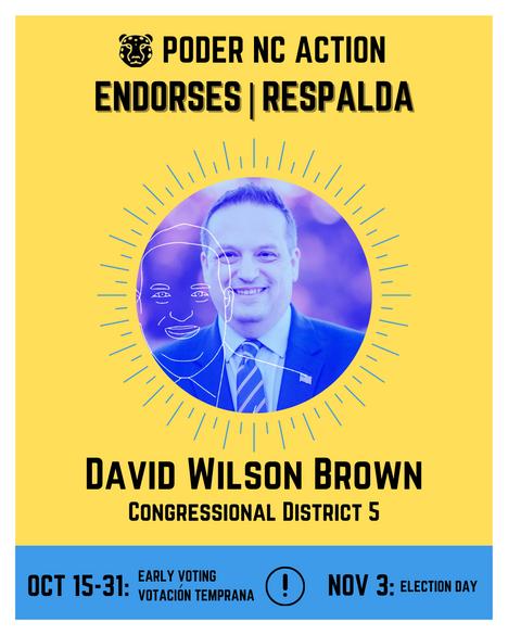 David Wilson Brown | Congressional District 5 | North Carolina