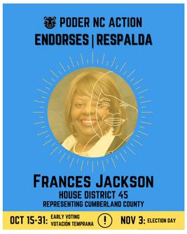 Frances Jackson | House District 45 | North Carolina | Representing Cumberland County