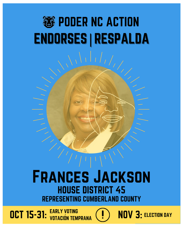 Frances Jackson | House District 45 | North Carolina | Representing Cumberland County