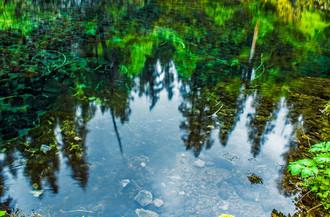 Blue Pool Reflection