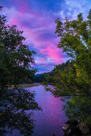 White Salmon River Sunset