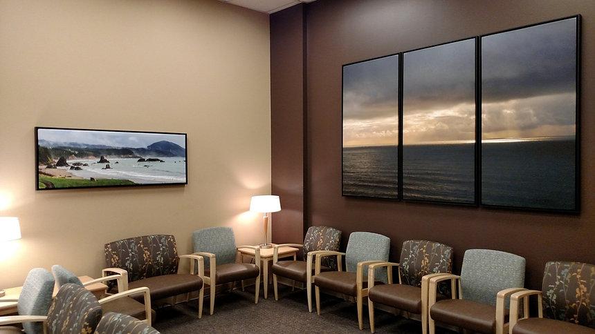 landscape art installation at Good Samaritan Medical Center
