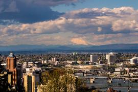 Across Portland To Mt St Helens