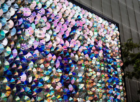 Sathorn Sign made with 1,000 CDs