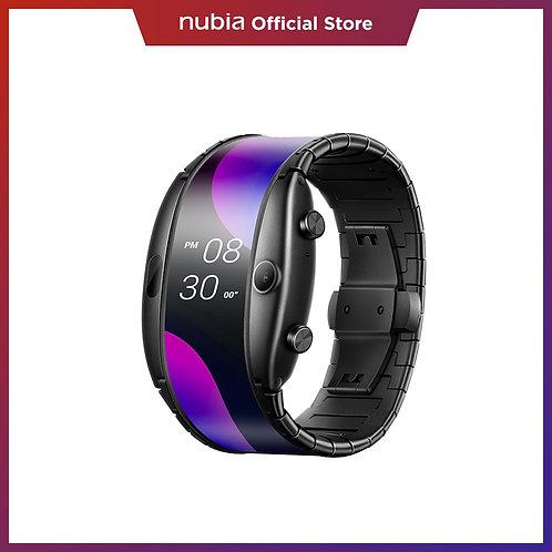 "Smart Phone Watch 4.01"" Foldable Flexible Screen Snapdragon Quad 8GB Smart Watch"