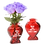 Thumbnail: Your Name (In place of Brad) Heart GLASS Bud Vase
