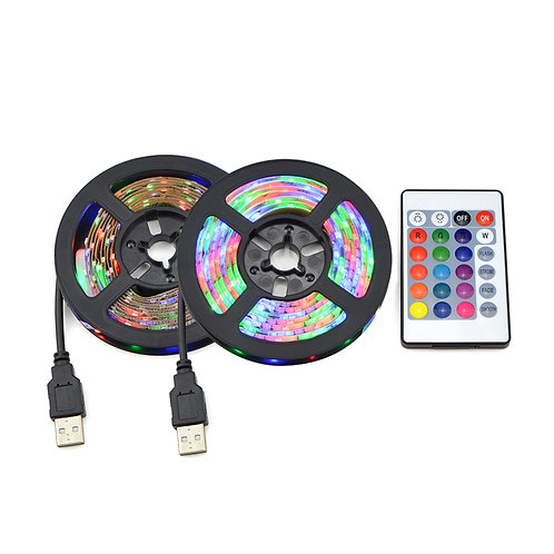 USB LED RGB Strip Lamp TV Background Decor Ribbon Tape Strings 1M 2M 3M 4M 5M