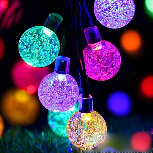 Led SolarBalls Waterproof Colorful Fairy Outdoor Garden Solar String Lights