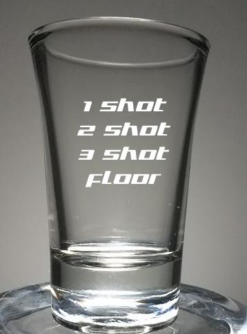 shot glass engraved with 1 shot 2 shot 3 shot floor set of 3