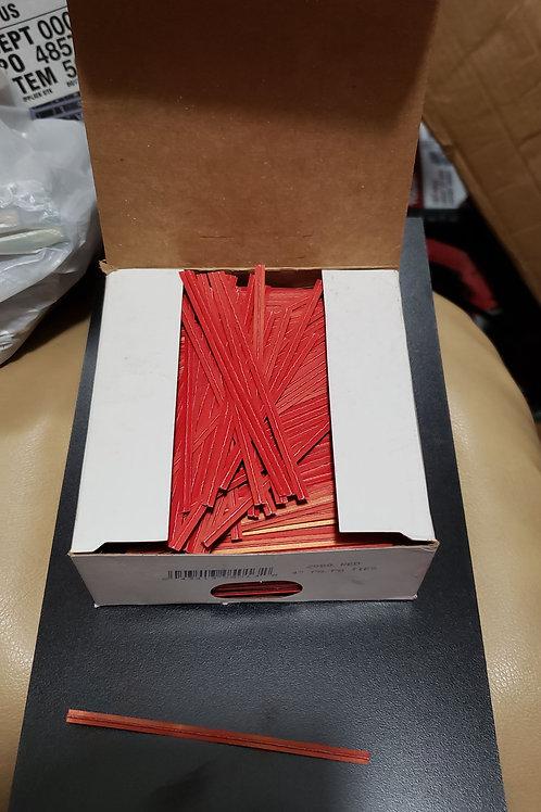 """2000 Twist Ties 4"""" Length Paper No Rip Bag Twist Tie"""