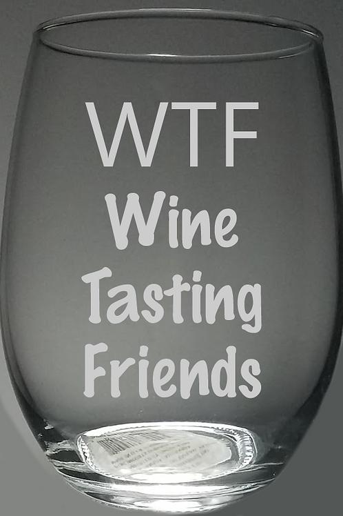 WTF Stemless Wine Glass