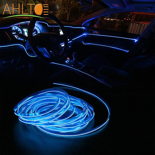 Car Strip Light Car Interior -  Auto LED Rope Flexible Neon Light 12V Waterproof