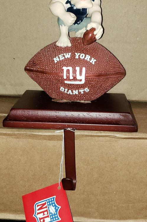 OFFICIAL LICENSED New York Giants NFL Stocking Hanger *Collectible*