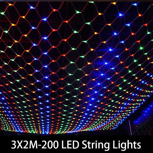 1.5MX1.5M 2x3M 4x6M Christmas Garlands LED String Curtain Lights