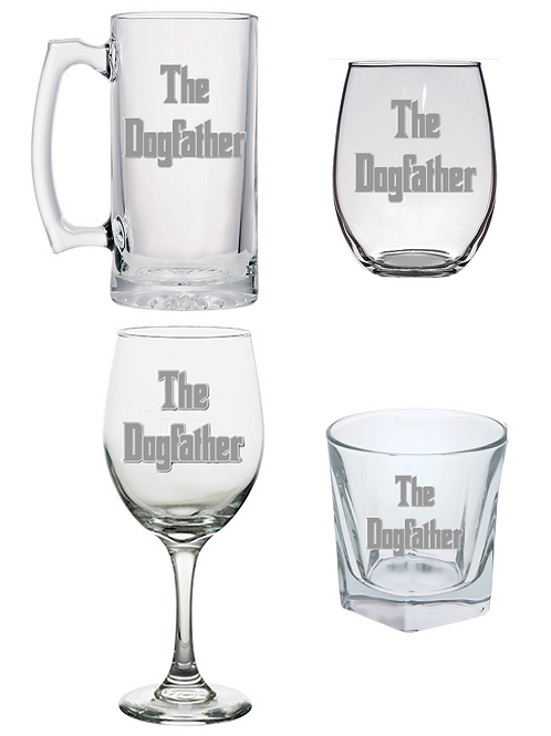 The Dog Father Glass