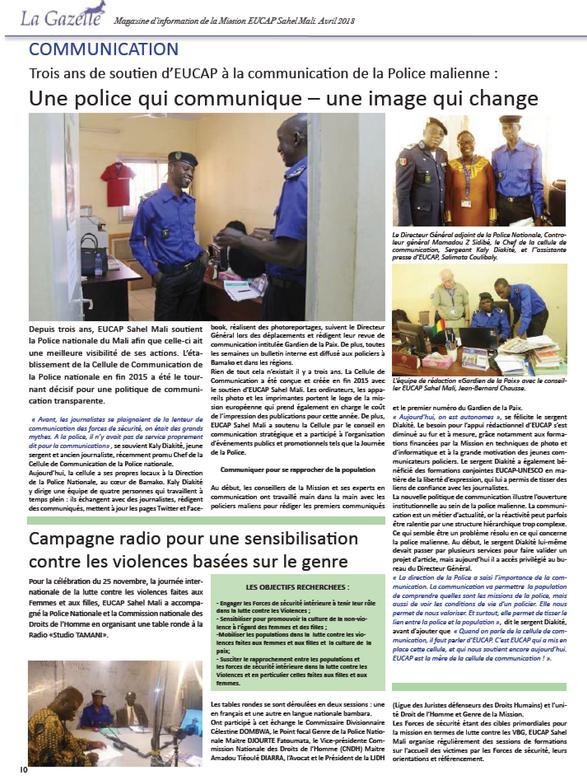 La Gazelle EUCAP Sahel Mali