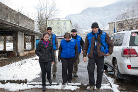 EUMM Georgia patrol in the Potshko-Etsteri village