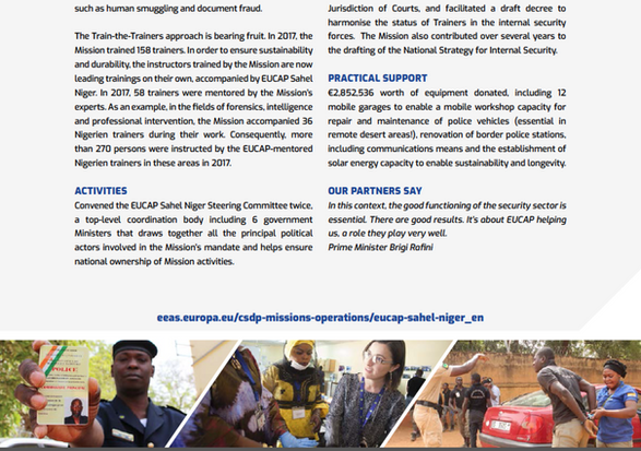 Annual Report 2017 EUCAP Sahel Niger