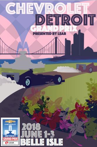 """2018 Grand Prix Poster competition Illustration"""