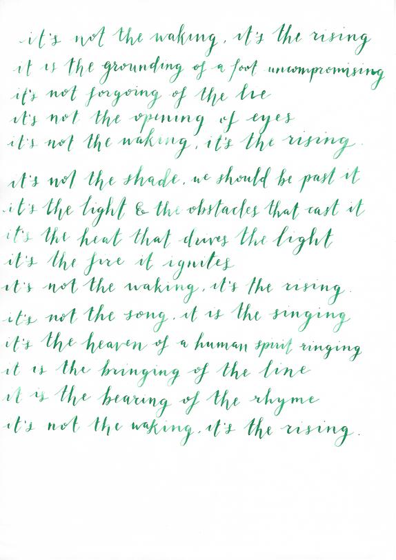 Lettering favourite quotes/lyrics