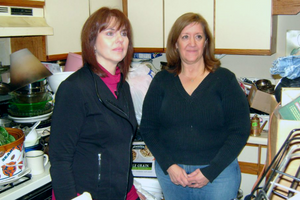 Fran Piekarski (left), President of Living Life with Dignity, on TLC's Hoarders: Buried Alive