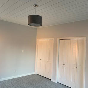 Shiplap Ceiling Install & Paint