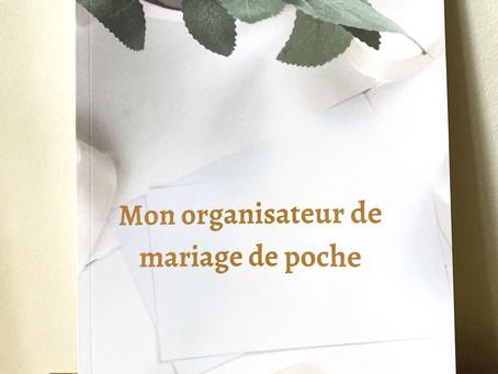 """Mon premier livre """" Mon organisateur de mariage de poche """""""