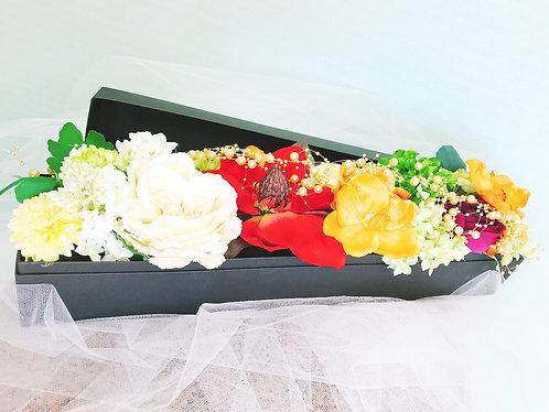 アーティフィシャルフラワー BOXアレンジ(大)_ブラック