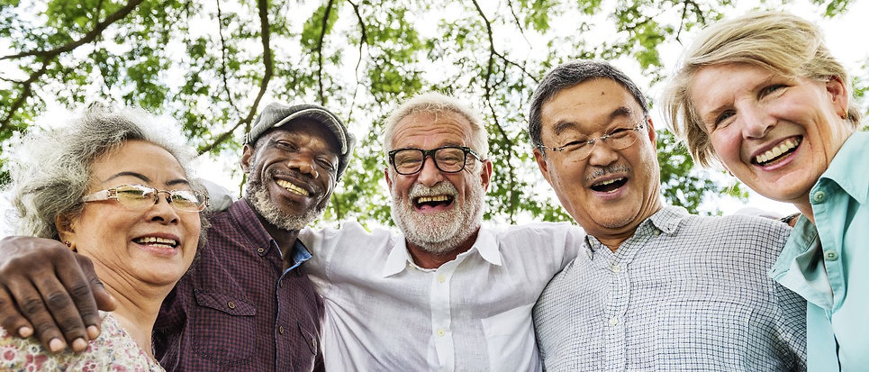 Group of Senior Retirement Discussion Me