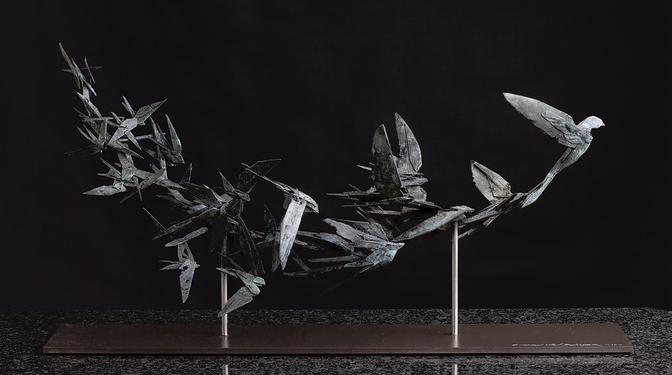 'Symphony of Swallows' Bronze Single Edition Year: 2016 Size: 800mm x 200mm x 350mm  AVAILABLE