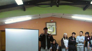 jóvenes con discapacidad auditiva, discussion about experience visiting the cloud forest