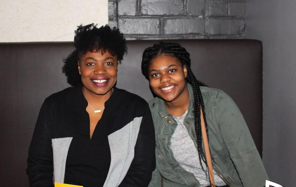 Stephanie R. Bridges and her daughter, Nandi Bridges, at FCCS Black Girl Magic Holiday Gift Drive