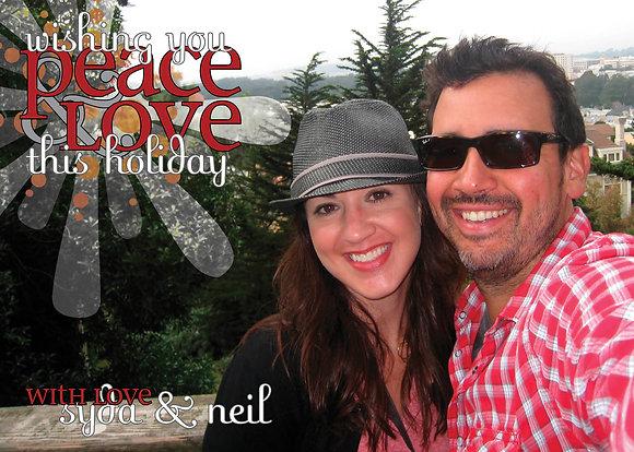 peace & love starburst