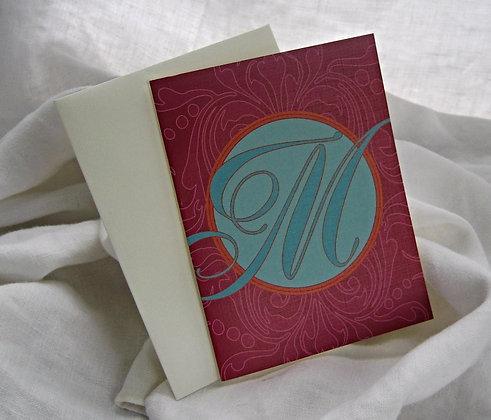 "magenta letter ""m"""