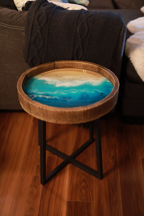 """North Shore"" Resin Art Coffee Table"