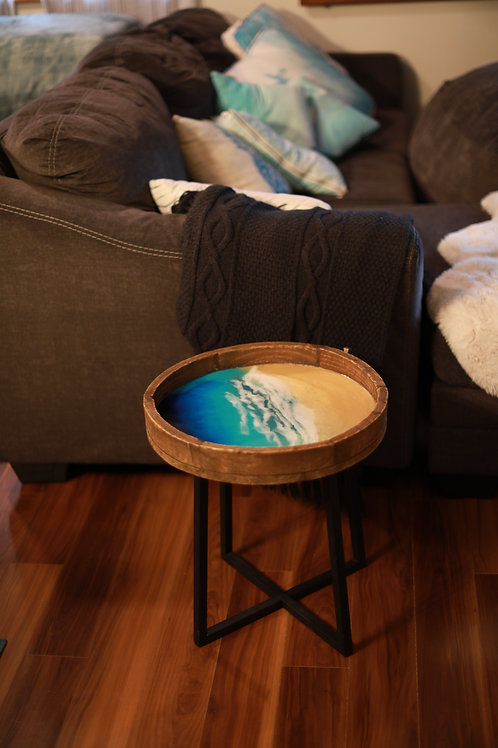"""Drop off"" Resin art Coffee Table"
