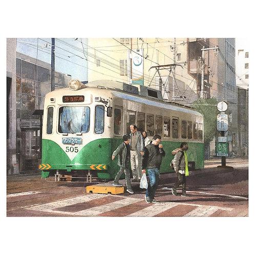244-電車を降りる人