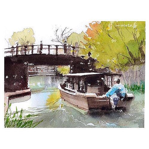 近江八幡・八幡堀3景--Three Watercolor