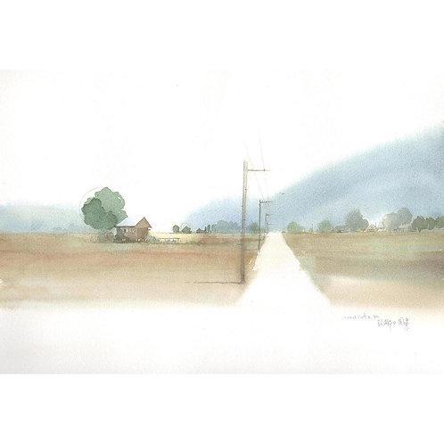 703-故郷風景の風景/一本道