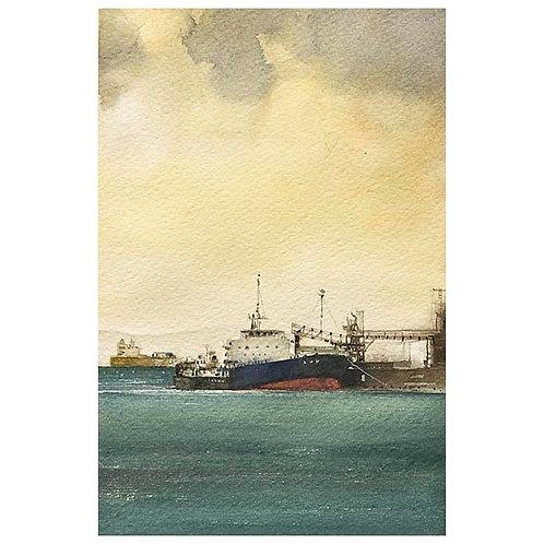 雨上がり2景--A set of two watercolor