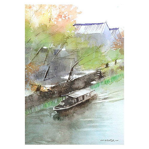 近江八幡3景--A set of three watercolor