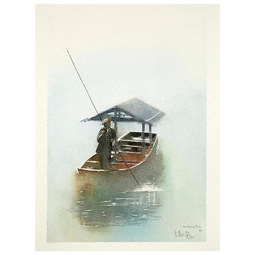 京都嵐山3景-A set of three watercolor