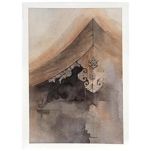 日本風景3点-A set of three watercolor