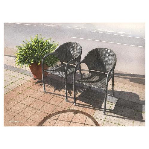 97-歩道の椅子