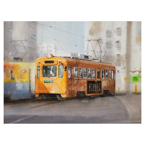 518-黄色の電車