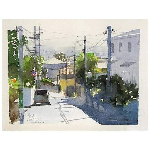昼下がり3景--A set of three watercolor