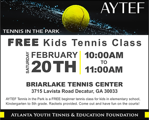 Tennis in the Park Feb 20 - BTC - for We