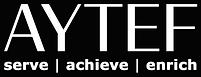 AYTEF Logo w Tag - WHT WHT - BLK Backgro
