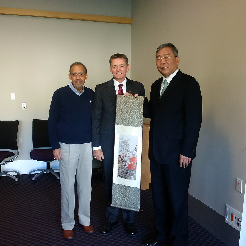 CASG Chairman Doug Horner, CASG Partner Jerry Naqvi and CAG Vice President Yang Keqin