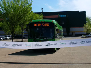 BYD Electric Bus Delivery to St. Albert
